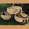 Basket made of pine root and willow - large