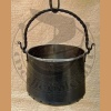 Forged metal cauldron 5L