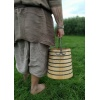 Wooden bucket with iron rings